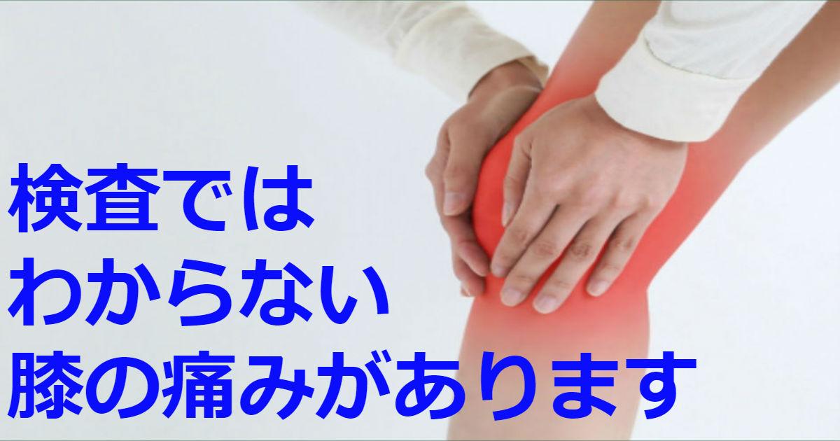 膝 内側 痛い 原因